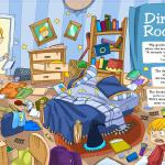 """Dirty Room"" from the book Be Good Boys, illustrated by Honoel A. Ibardolaza"