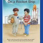 """On A Rocket Ship"", illustrated by Ritche Arriba, from the book The Panda Banda"